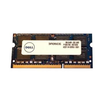 SNPN2M64C/8G Dell 8GB DDR3 SoDimm Non ECC PC3-12800 1600Mhz 2Rx8 Memory