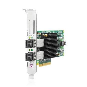 AJ763B HP StorageWorks 82E Dual Ports Fibre Channel 8Gbps PCI Express Short Wave HBA Controller Card