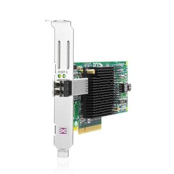 AJ762B HP StorageWorks 81E Single Port Fibre Channel 8Gbps PCI Express Short Wave HBA Controller Card