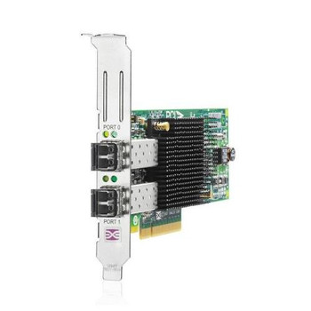 AJ763-63001 HP StorageWorks 82E 8GB PCI-Express Dual-Port Fibre Channel (Short Wave) Host Bus Adapter