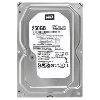 WD2500AACS Western Digital 250GB 7200RPM SATA 3.0 Gbps 3.5 16MB Cache Hard Drive