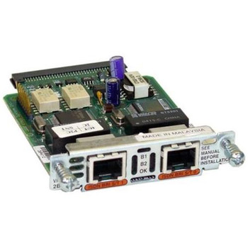VIC2-2BRI-NT/TE Cisco 2-Ports Voice Interface Card BRI NT and TE (Refurbished)