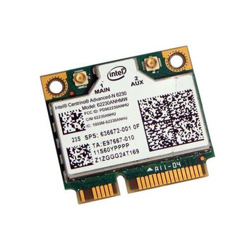 636672-001 HP Advanced-N 6230 Half MiniCard 802.11b/g/n WiFi Wireless Lan (WLAN) Network Adapter with Integrated BlueTooth