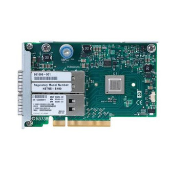 656090-001 HP InfiniBand PCI-Express FDR/Ethernet 10GB/40GB 2-Port 544FLR-QSFP Host Channel Adapter