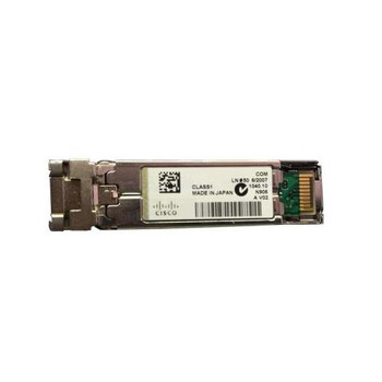 SFP-1GB-SX Cisco 1Gbps 1000Base-SX Multi-mode Fiber 550m 850nm Duplex LC Connector SFP Transceiver Module (Refurbished)