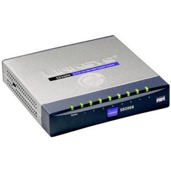 SD2008 Linksys 8-Ports RJ-45 10/100/1000Mbps Gigabit Ethernet Desktop Switch (Refurbished)