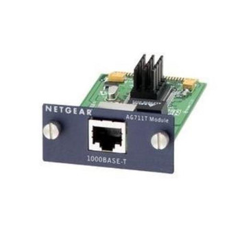 AG711T Netgear Copper Gigabit 1000BASE-T Expansion Module 1 x 10/100/1000Base-T LAN Expansion Module (Refurbished)