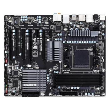 GA-990FXA-UD3 Gigabyte Socket AM3 AMD 990FX/ SB950 Chipset AMD AM3+ FX/ AM3 Phenom II/ AMD Athlon II Processors Support DDR3 4x DIMM 6x SATA 6.0Gb/s A