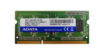 AM1L16BC4R1-B1GS ADATA 4GB DDR3 SoDimm Non ECC PC3-12800 1600Mhz 1Rx8 Memory