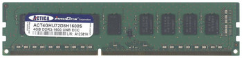 ACT4GHU72D8H1600S ACTICA 4GB DDR3 ECC PC3-12800 1600Mhz 2Rx8 Memory
