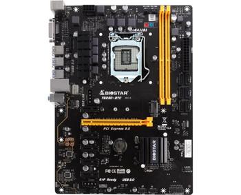 TB250-BTC Biostar Socket LGA 1151 Intel B250 Chipset Core i7 / i5 / i3 / Pentium / Celeron Processors Support DDR4 2x DIMM 6x SATA3 6.0Gb/s ATX Mother