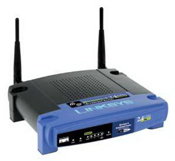 WRT54GR Linksys 11G 54MB 2.4GHZ Router with Rangebooster 4Port(PHASEOUT) (Refurbished)