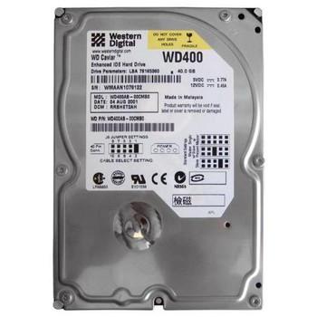 WD400AB-00CMB0 Western Digital 40GB 5400RPM ATA 100 3.5 2MB Cache Caviar Hard Drive