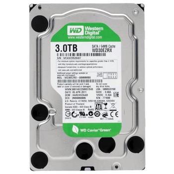 WD30EZRX Western Digital 3TB 5400RPM SATA 6.0 Gbps 3.5 64MB Cache Caviar Hard Drive