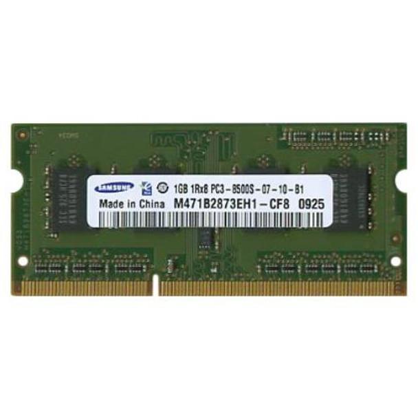 M471B2873EH1-CF8 Samsung 1GB DDR3 SoDimm Non ECC PC3-8500 1066Mhz 1Rx8 Memory