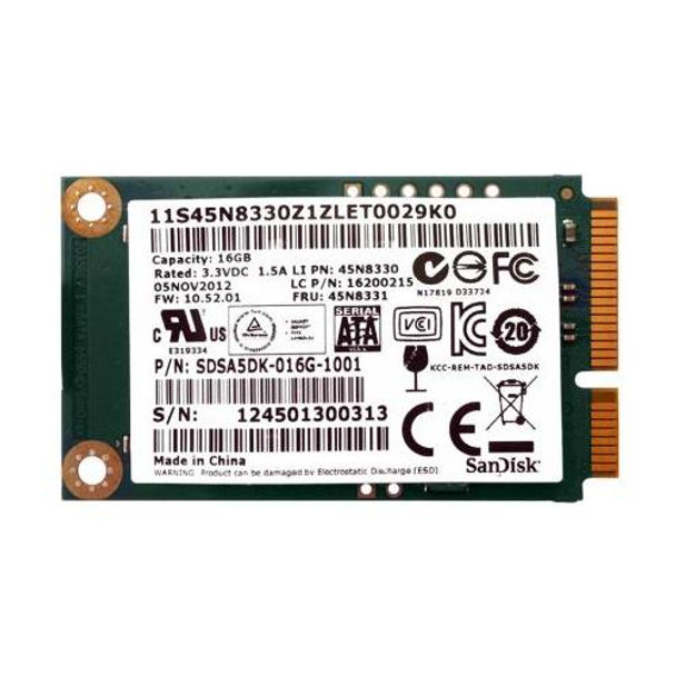 45N8331 Lenovo 16GB MLC SATA 6Gbps mSATA Internal Solid State Drive (SSD) for ThinkPad X230i
