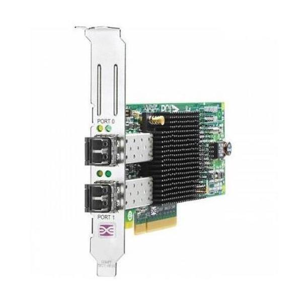 AJ763A HP StorageWorks 82E Dual Port Fibre Channel 8Gbps PCI Express 2.0 x4 HBA Controller Card
