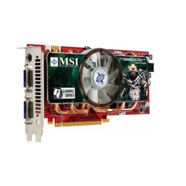 N9800GT512MOC MSI Nvidia GeForce 9800 GT 512MB GDDR3 PCI Express 20 X16 Dual DVI VGA Video
