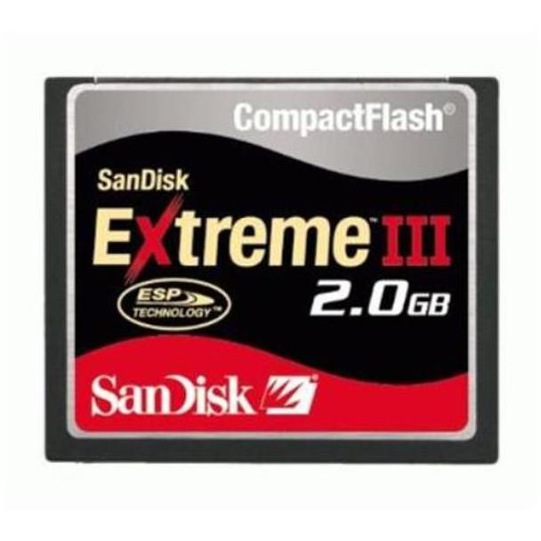 SDCFX3-2048 SanDisk Extreme III 2GB CompactFlash (CF) Memory Card