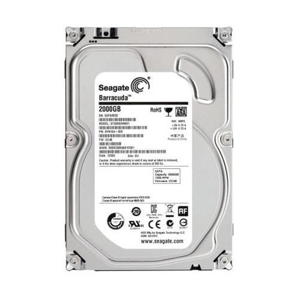 ST2000DM001 Seagate 2TB 7200RPM SATA 6.0 Gbps 3.5 64MB Cache Barracuda Hard Drive