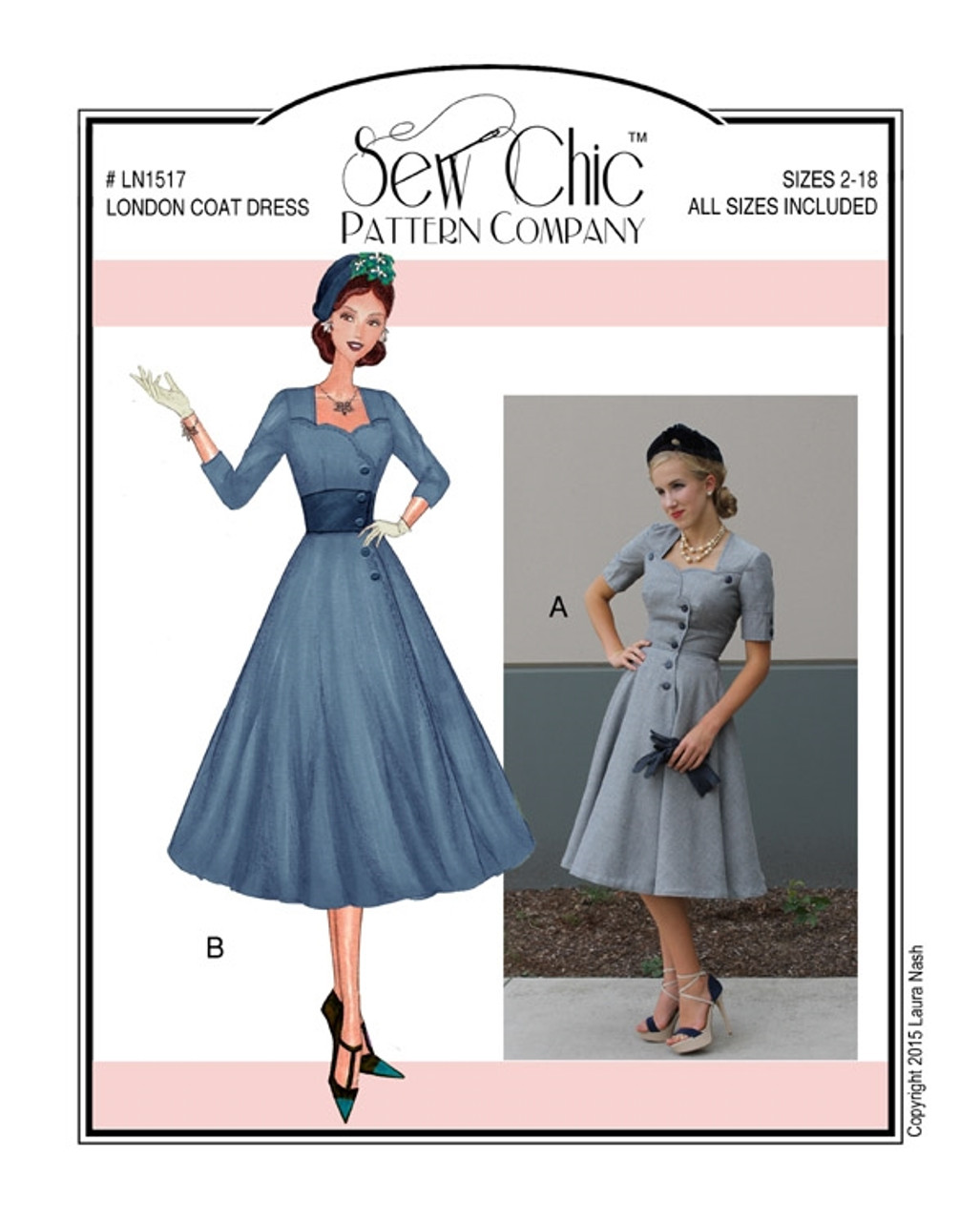 London Coat Dress - Sew Chic Pattern Company