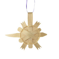 Brown Ash Turtle Ornament by Pam Cunningham (Penobscot).