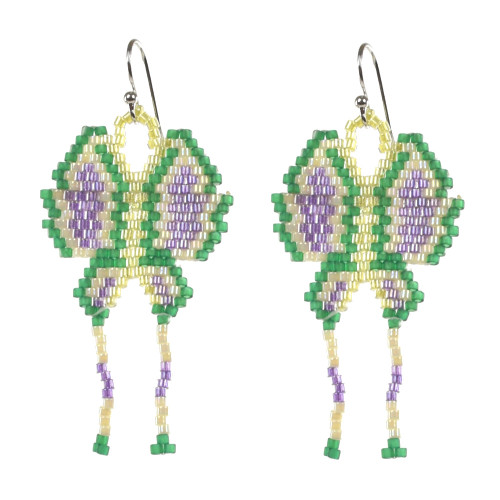 Beaded Butterfly Earrings by Faye Decontie (Penobscot).