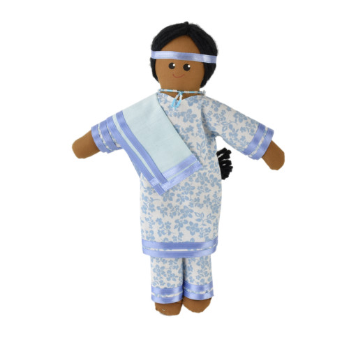Native Woman Doll with Shawl