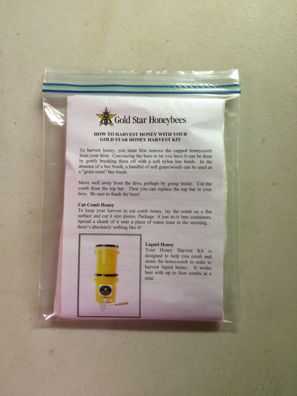 Always nice to have a pair of spare strainers around for your Gold Star Honey Harvest kit.