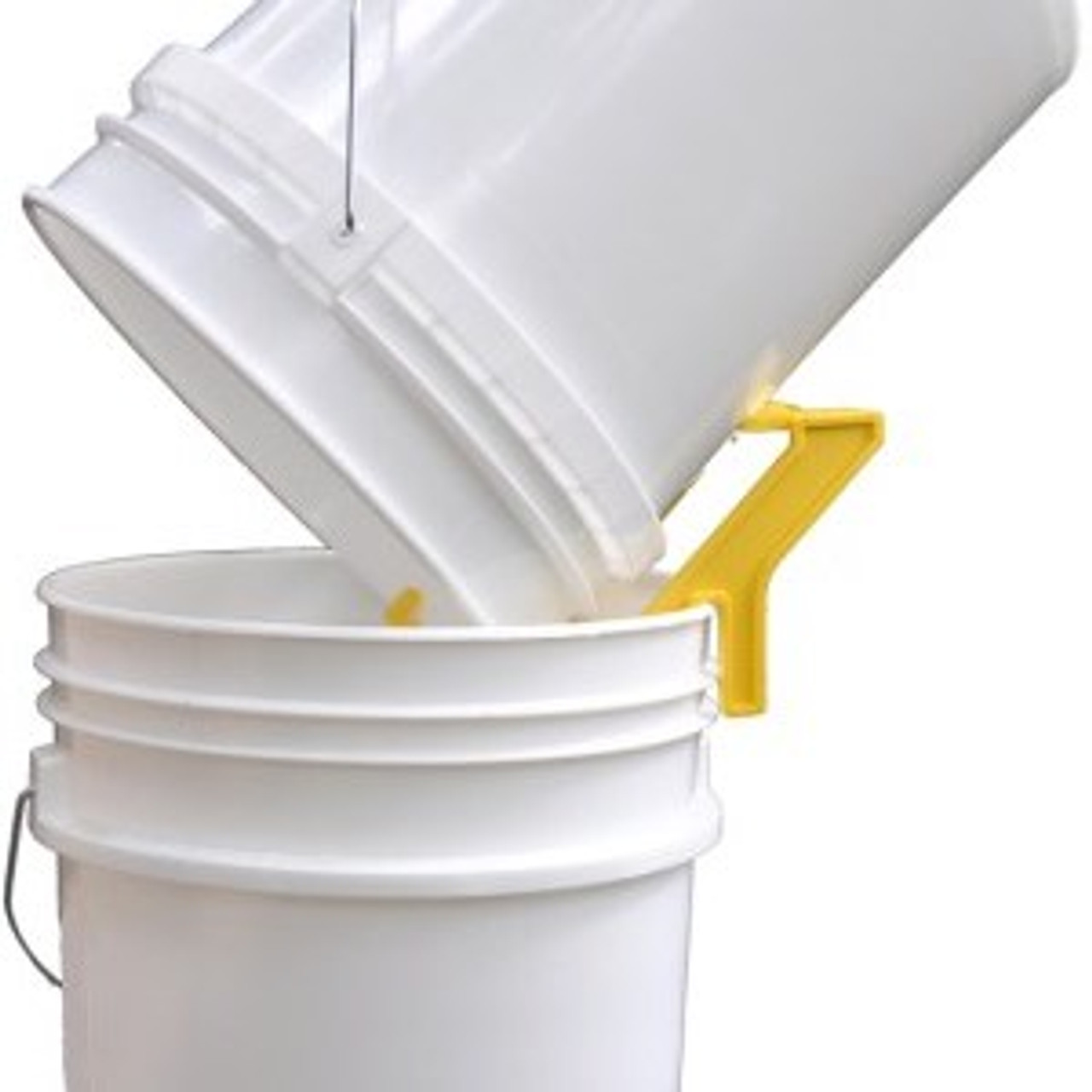 Bucket Tipper holds the bucket securely for you.