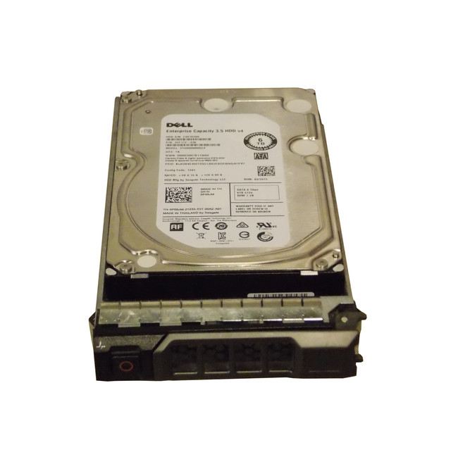 "Dell P00JM Hard Drive 6TB 7.2K SATA 3.5"" in Tray"