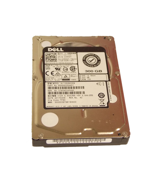 "Dell 0RVDT Hard Drive 300GB 15K 2.5"" SAS"