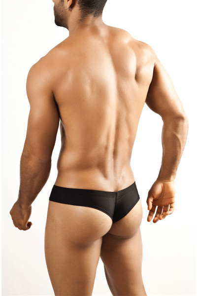 47b335e3b ... Black - Joe Snyder Mini Cheek Thong JS22 - Rear View - Topdrawers  Underwear for Men