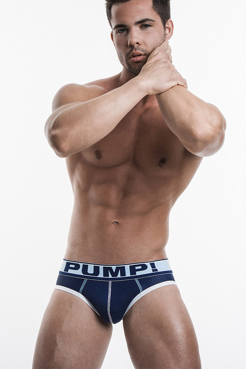 PUMP! Underwear Blue Steel Brief 12029 from Topdrawers Menswear - Full View