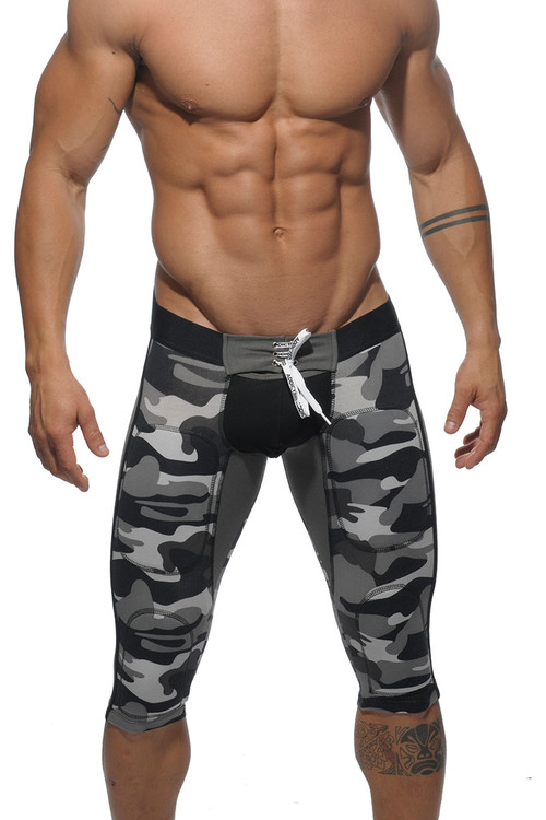 17M0 Camouflage - Addicted Fetish Knee Length Pant AD235 - Front View - Topdrawers Underwear for Men