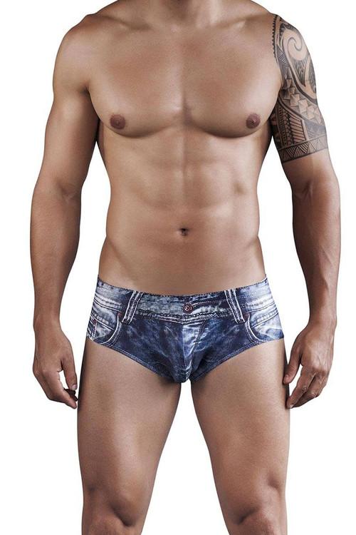 Clever Denim Jean Latin Brief 5201-08 - Front View - Topdrawers Underwear for Men