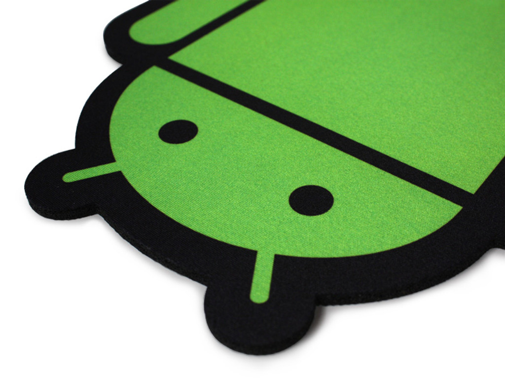 Green on black cloth top pad