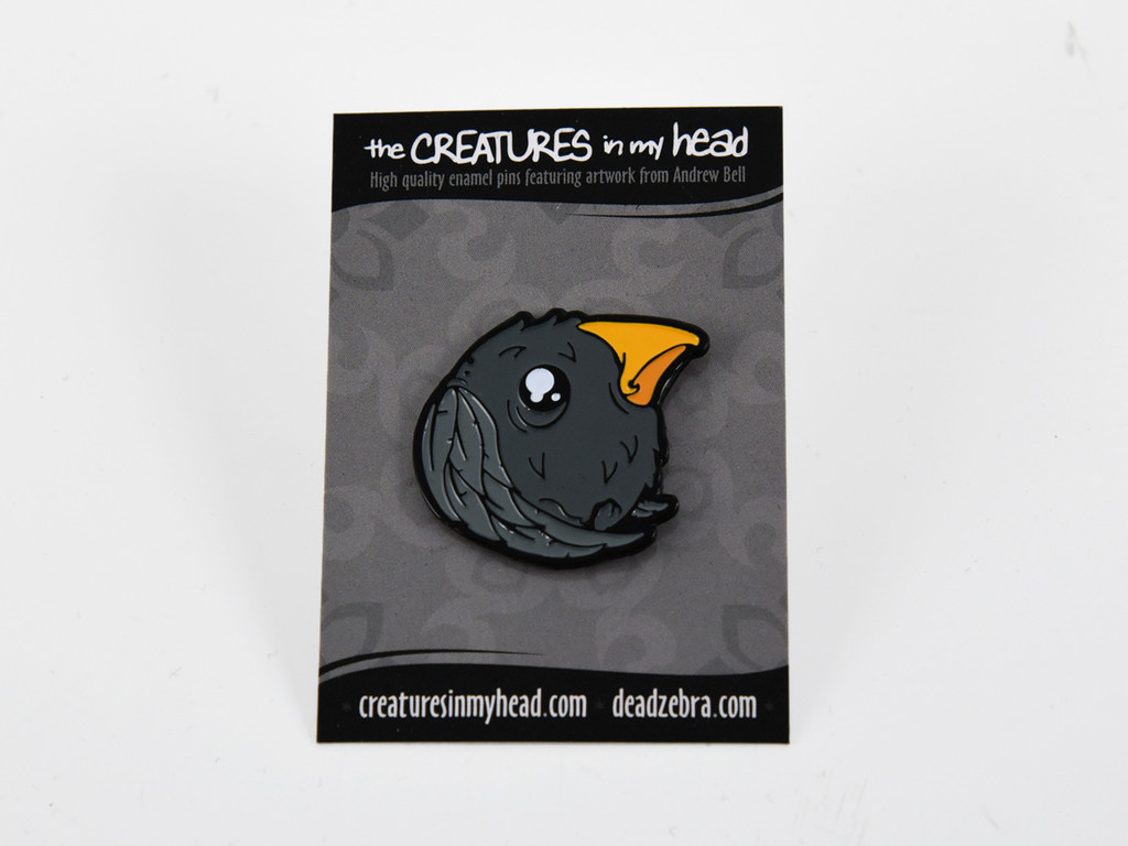 Birdball Enamel Pin