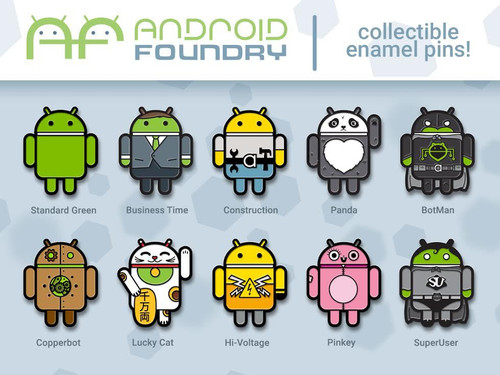 Android Pin Set (10 pcs)