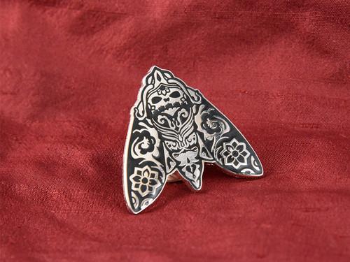 Morimoth Enamel Pin Silver Edition