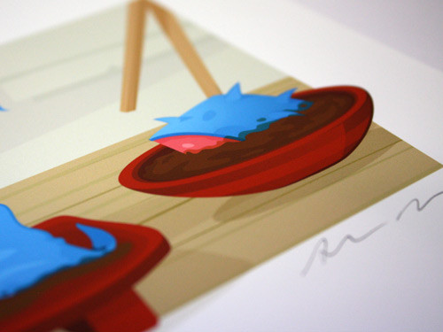 print detail and signature