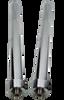 "14"" Chrome Cylinders (Pair)"