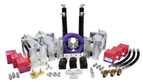 3 Pump Kit (w/ 4 Dumps, Deep & Coilover Cups w/ Powerballs)
