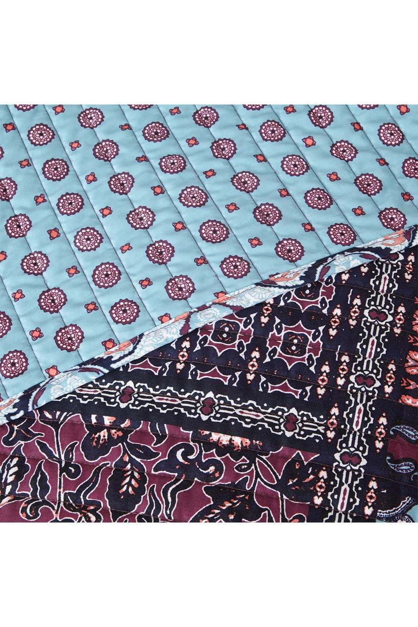 Josie Woodblock Patchwork Reversible Quilt 5 Pc Set