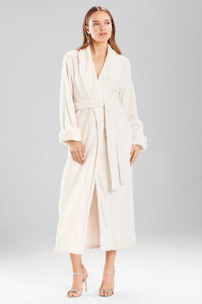 Natori Faux Fur Printed Robe - The Natori Company