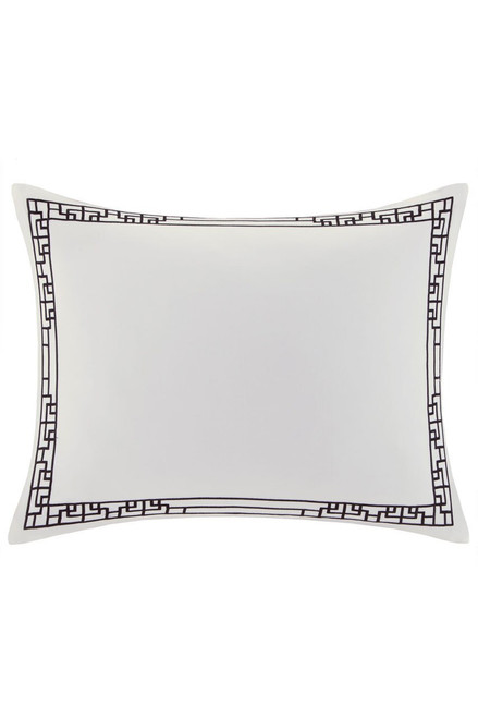 Buy Ming Fretwork White/Black Sham from