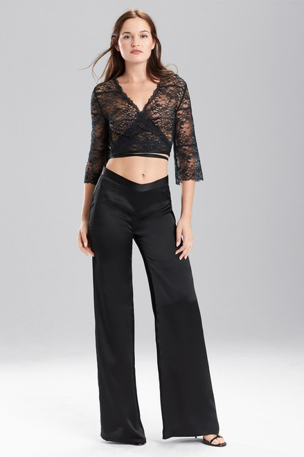 Josie Natori Key Wide Leg Pants at The Natori Company