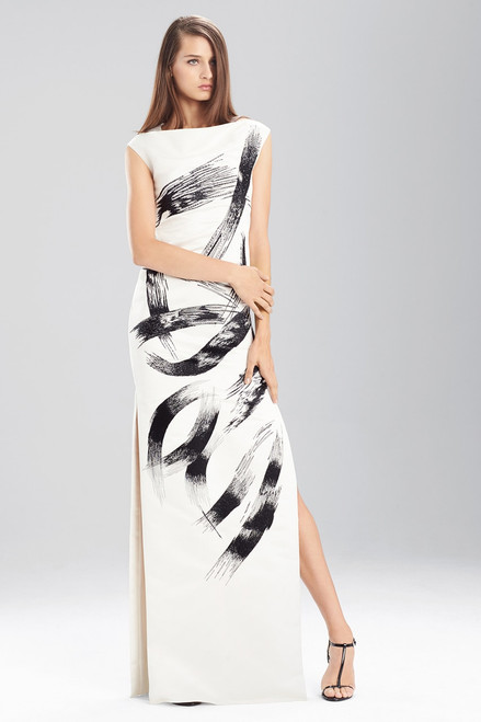 Buy Duchess Satin Boatneck Dress from