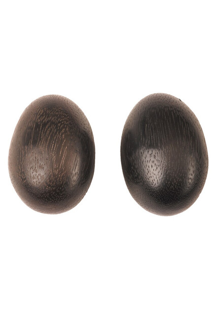 Acacia Wood Teardrop Earrings at The Natori Company