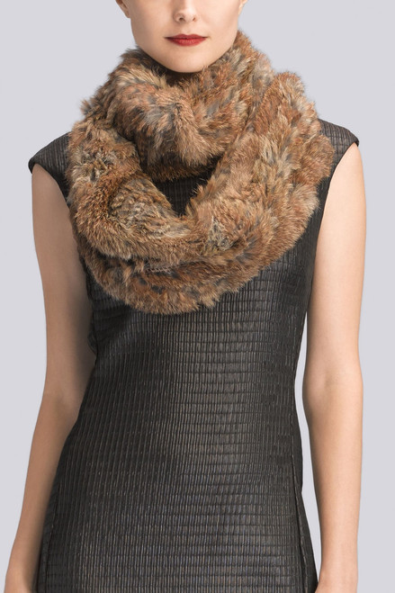 Josie Natori Knitted Fur Scarf at The Natori Company